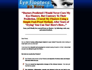 eyefloatersnomore.com screenshot