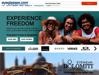 eyeglasses.com screenshot