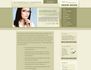 eyehealthpartners.com screenshot