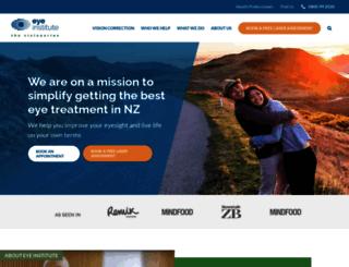 eyeinstitute.co.nz screenshot
