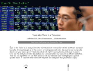 eyeontheticker.com screenshot