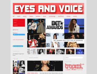 eyesandvoice.wordpress.com screenshot