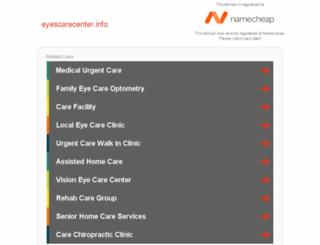 eyescarecenter.info screenshot