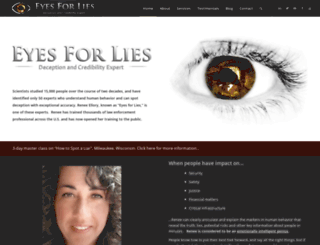 eyesforlies.com screenshot