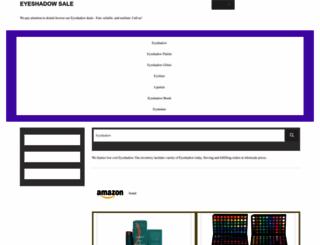 eyeshadowalley.com screenshot