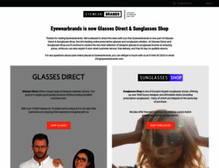eyewearbrands.com screenshot