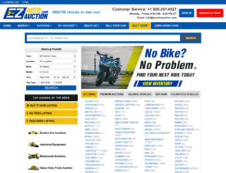 ezautoauction.com screenshot