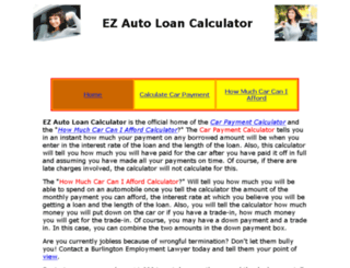 ezautoloancalculator.com screenshot