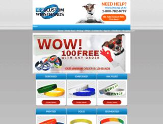 ezcustomwristbands.com screenshot