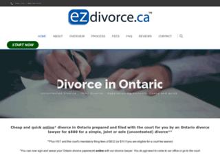 ezdivorce.ca screenshot