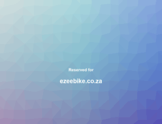ezeebike.co.za screenshot