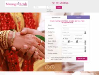 ezhavamatrimonials.com screenshot