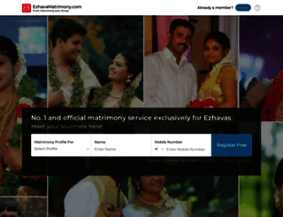 ezhavamatrimony.com screenshot