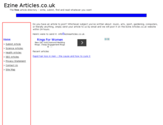 ezinearticles.co.uk screenshot