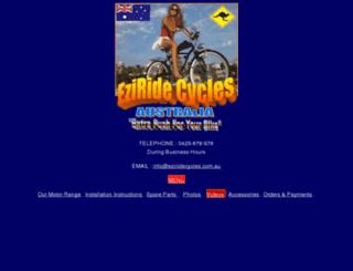 eziridecycles.com.au screenshot