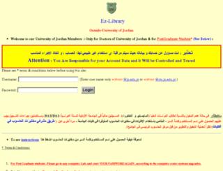 ezlibrary.ju.edu.jo screenshot