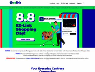 ezlink.com.sg screenshot