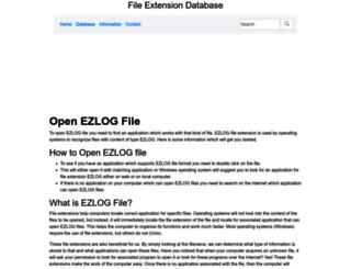 ezlog.extensionfile.net screenshot