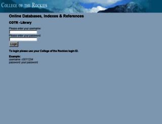 ezproxy.cotr.bc.ca screenshot