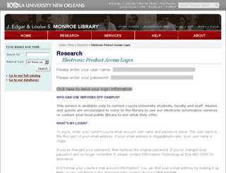 ezproxy.loyno.edu screenshot