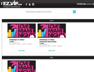 ezvip.wantickets.com screenshot