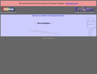 ezyspec.resene.co.nz screenshot
