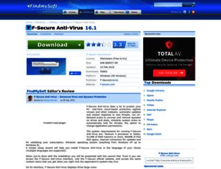 f-secure-antivirus.findmysoft.com screenshot
