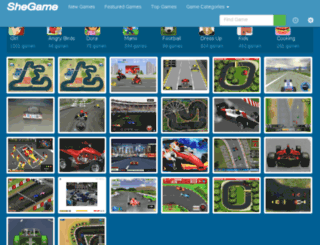 f1-games.shegame.com screenshot