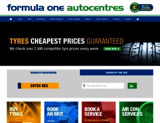 f1autocentres.co.uk screenshot