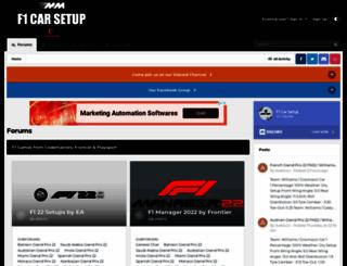 f1carsetup.com screenshot