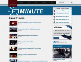f1minute.com screenshot