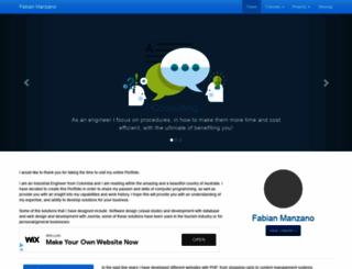 fabianmanzano.info screenshot