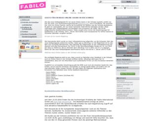 fabilo.ch screenshot