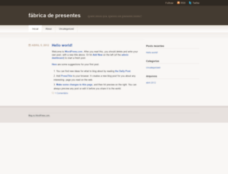 fabricadepresentes.wordpress.com screenshot
