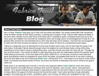 fabricetouilblog.com screenshot