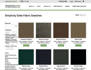 fabrics.simplicitysofas.com screenshot