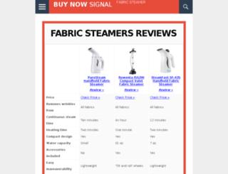 fabricsteamerreviews.net screenshot
