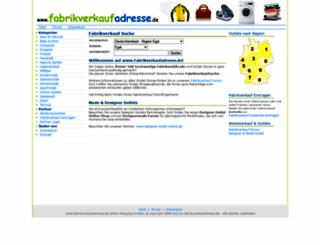 fabrikverkaufadresse.de screenshot