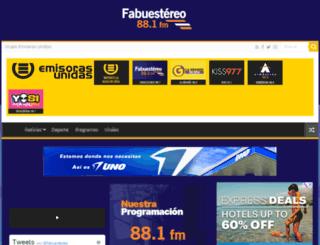 fabuestereo.emisorasunidas.com screenshot