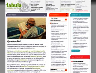 fabula.org screenshot