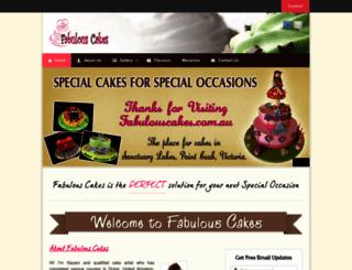 fabulouscakes.com.au screenshot