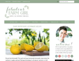 fabulousfarmgirl.com screenshot