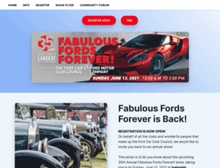 fabulousfordsforever.com screenshot