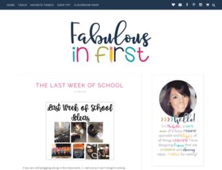 fabulousinfirst.blogspot.fr screenshot