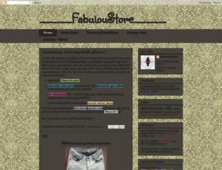 fabuloustore.blogspot.com screenshot