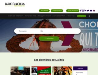 fac-metiers.fr screenshot