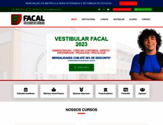 facal.edu.br screenshot