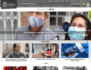 facartes.unal.edu.co screenshot
