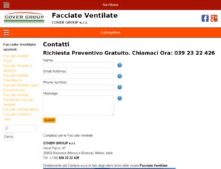 facciateventilatecovergroup.com screenshot