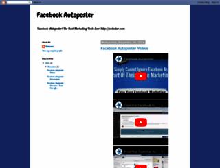 facebook-autoposter.blogspot.com screenshot